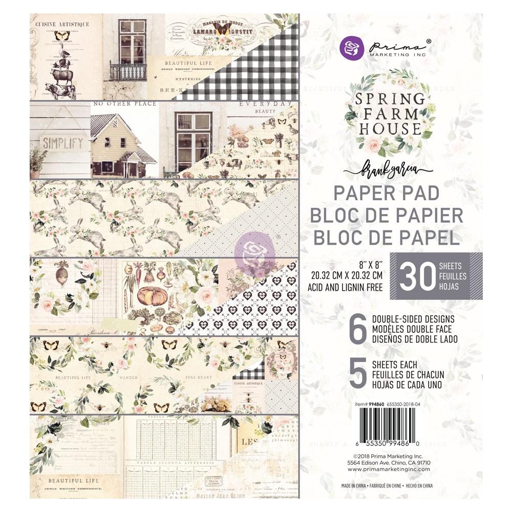 8x8 Paper Pad Spring Farmhouse