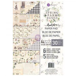 Spring Farmhouse A4 Paper Pad