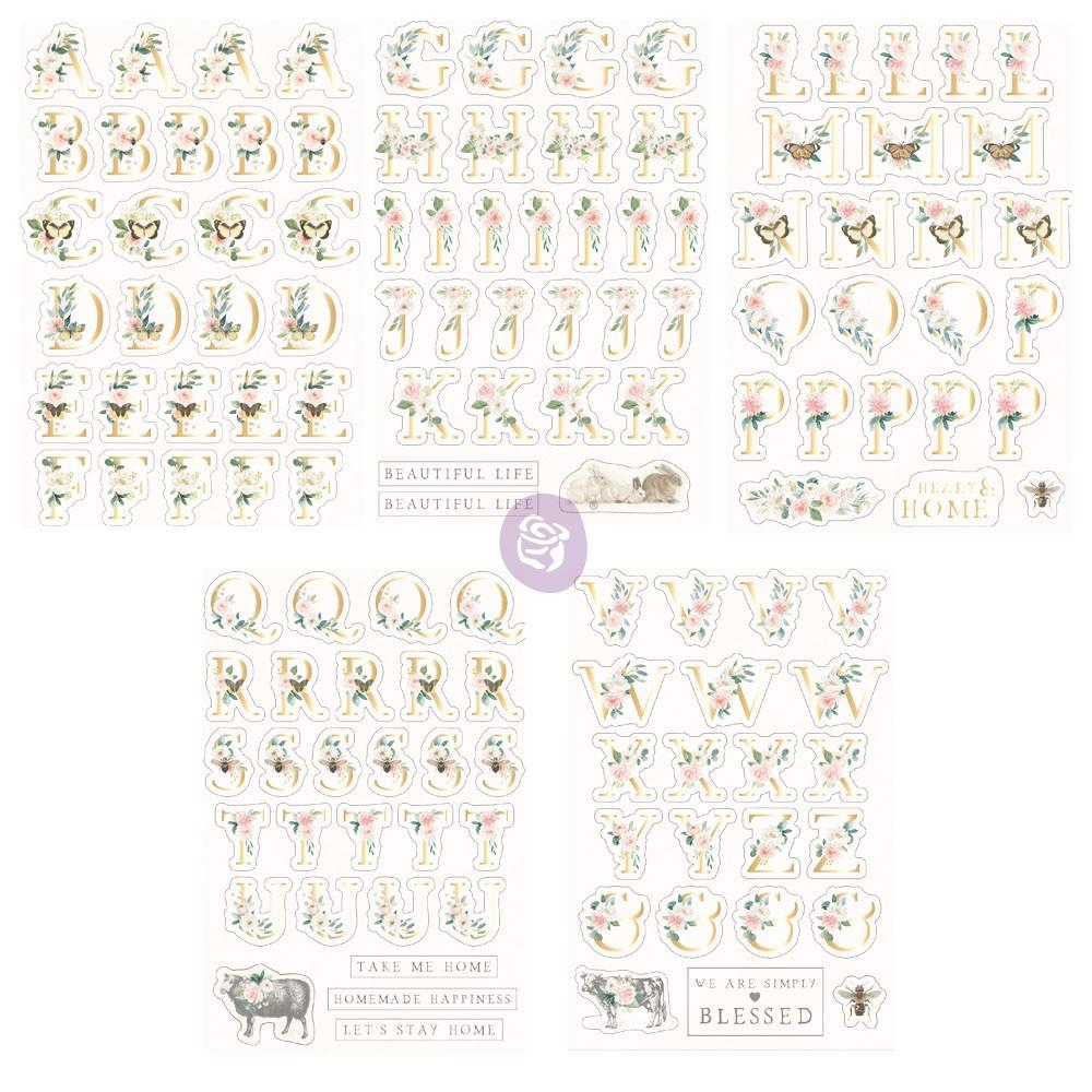 Spring Farmhouse Alphabet Stickers