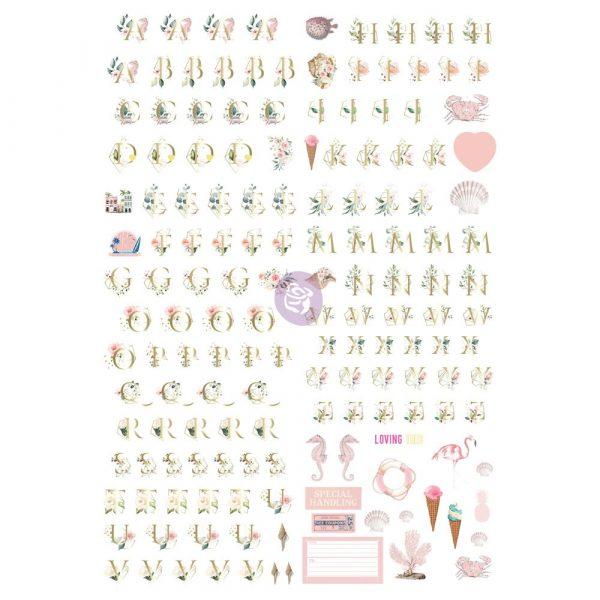 Golden Coast Alphabet stickers