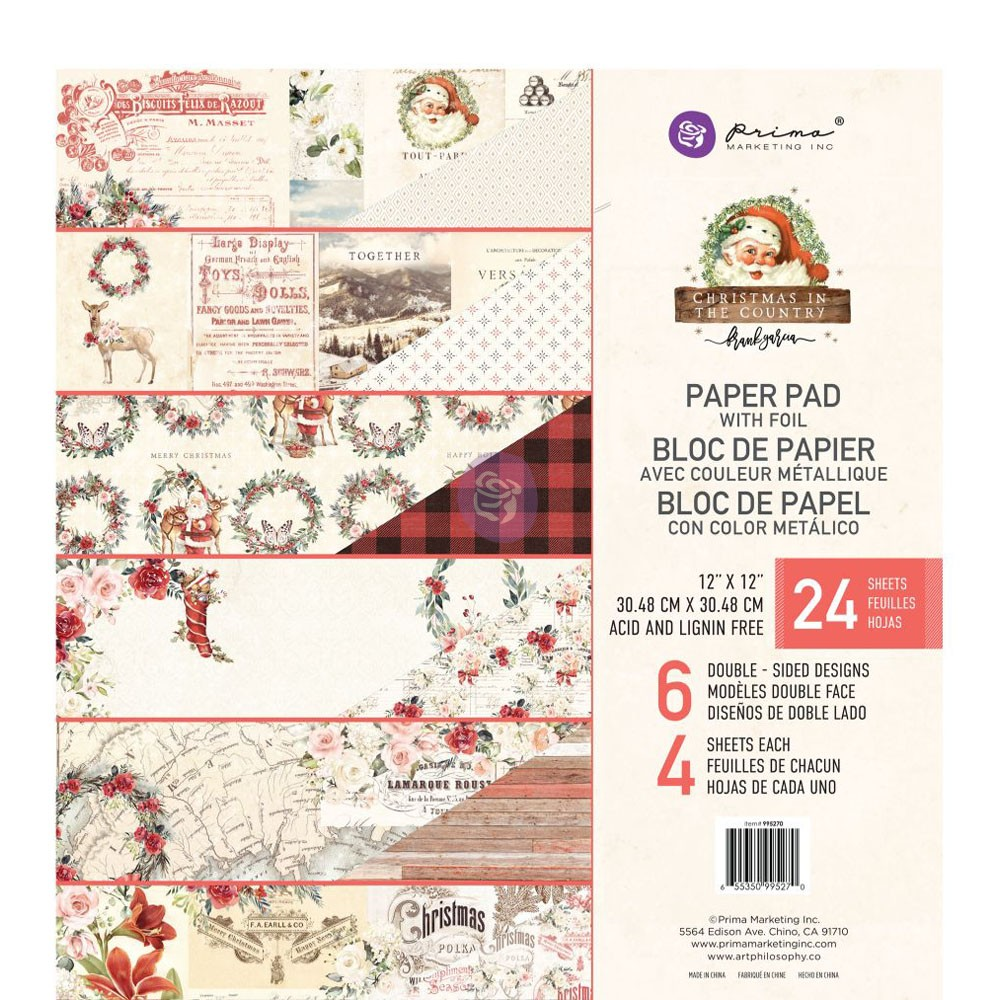 Christmas in the Country - 12x12 Paper Pad -