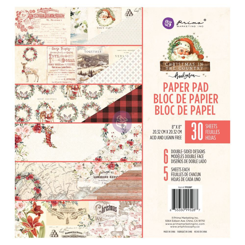 Christmas in the Country - 8x8 Paper Pad -