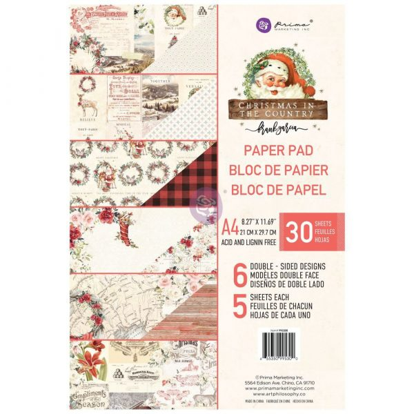 Christmas in the Country - A4 Paper Pad -