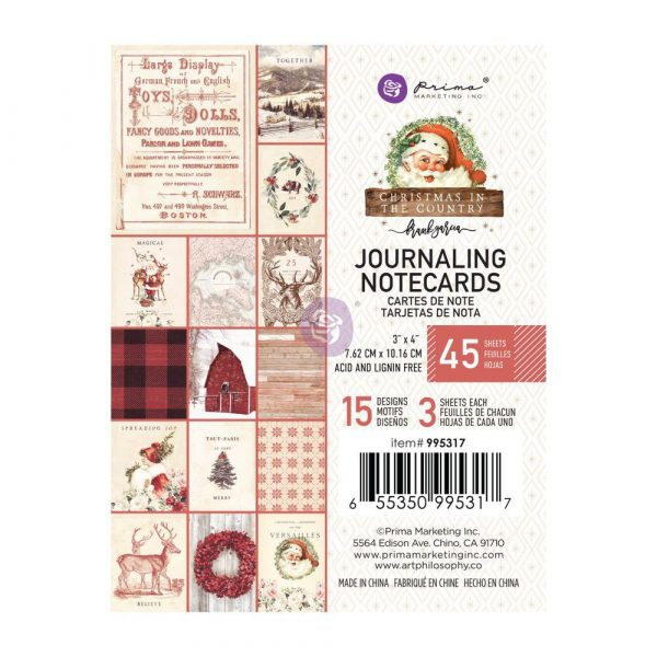 Christmas in the Country - 3X4 Journaling Cards -