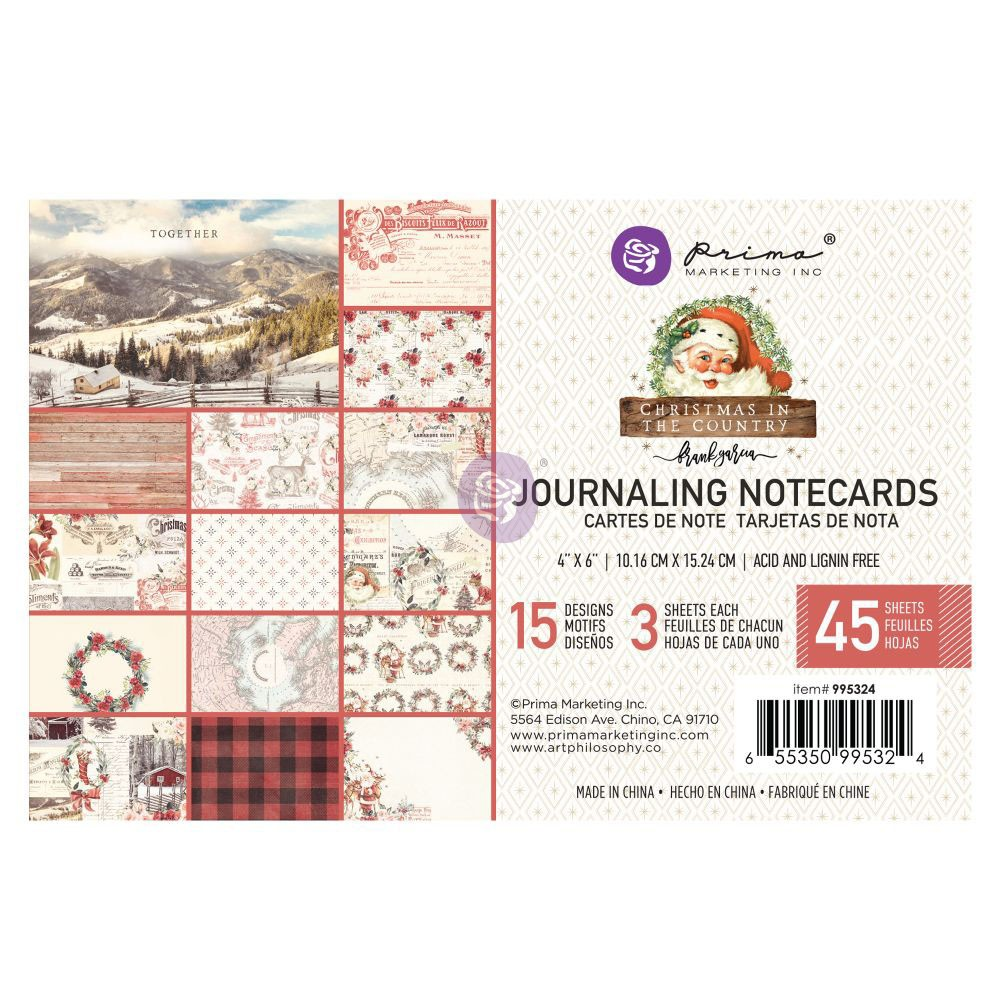 Christmas in the Country - 4X6 Journaling Cards -