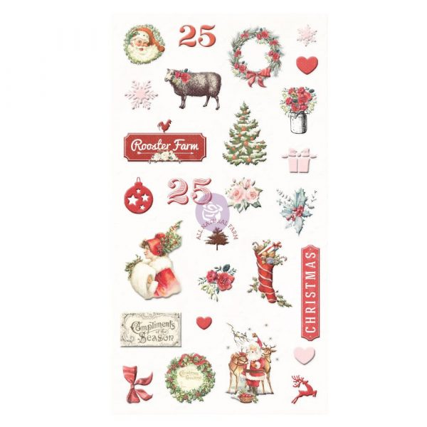 Christmas in the Country - Puffy Stickers -