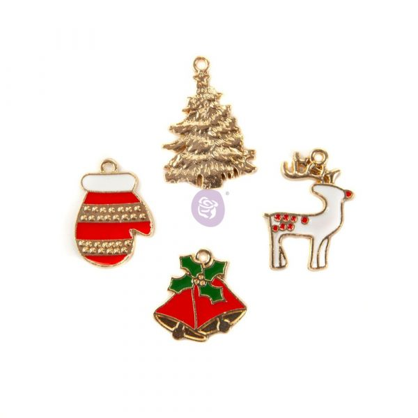 Christmas in the Country - Enamel charms -