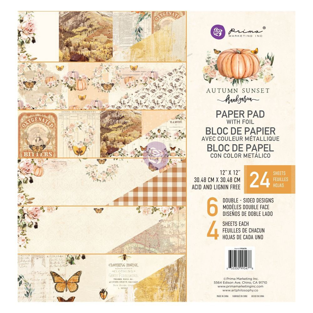 Autumn Sunset - 12x12 Paper Pad -