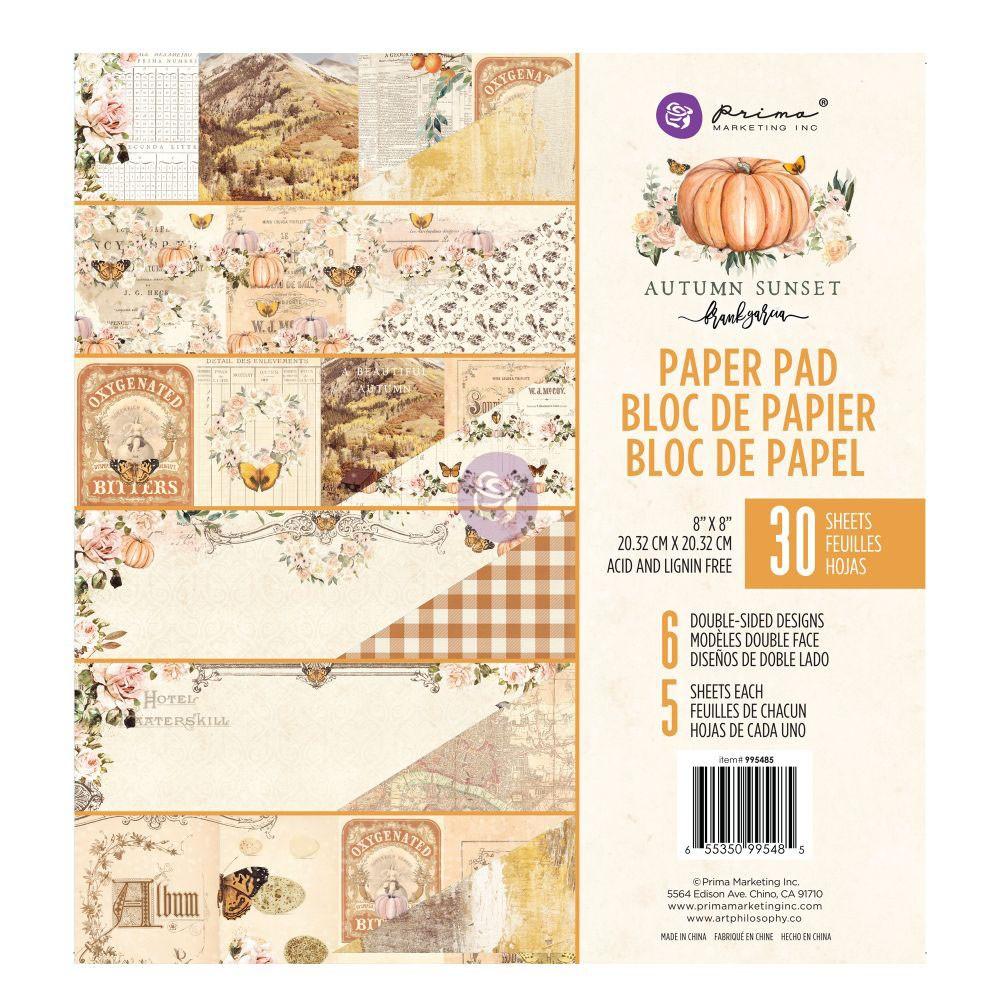 Autumn Sunset - 8x8 Paper Pad -