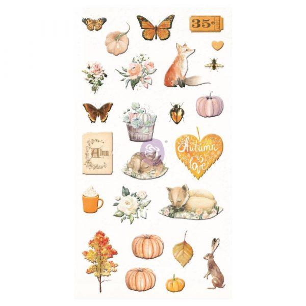 Autumn Sunset - Puffy Stickers -