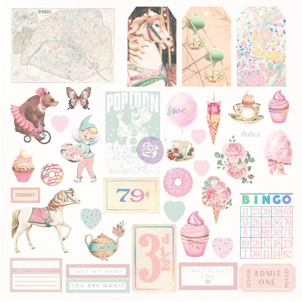 6x6 Paper Pad*Scrapbook Paper Papercr PRIMA MARKETING Christmas in the Country