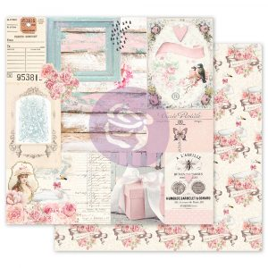 With Love Collection 12x12 Sheet -  All Of The Pretty Things - 1 sheet w/ foil details