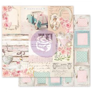 With Love Collection 12x12 Sheet -  All That I Need - 1 sheet w/ foil details