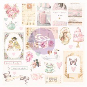 With Love Collection Ephemera - 31 pcs w/ foil details