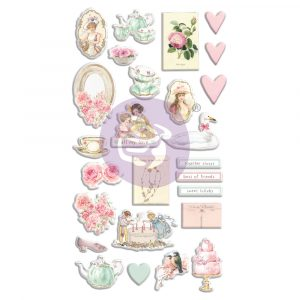 With Love Collection Puffy Stickers - 26 pcs
