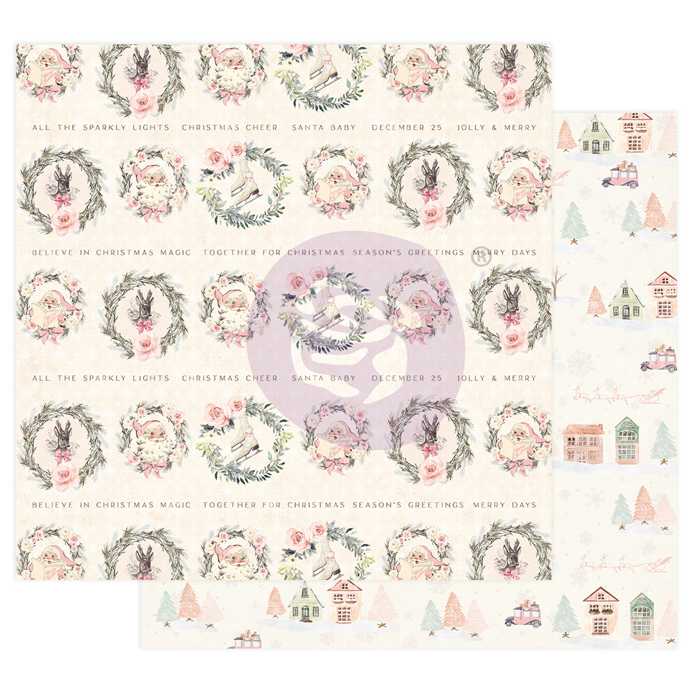 """Sugar Cookie Christmas Collection 12X12 Sheet - Together For Christmas - 12"""" x 12.5"""", foil details"""