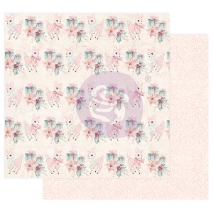"Sugar Cookie Christmas Collection 12X12 Sheet - Beautiful Christmas - 12"" x 12.5"", foil details"