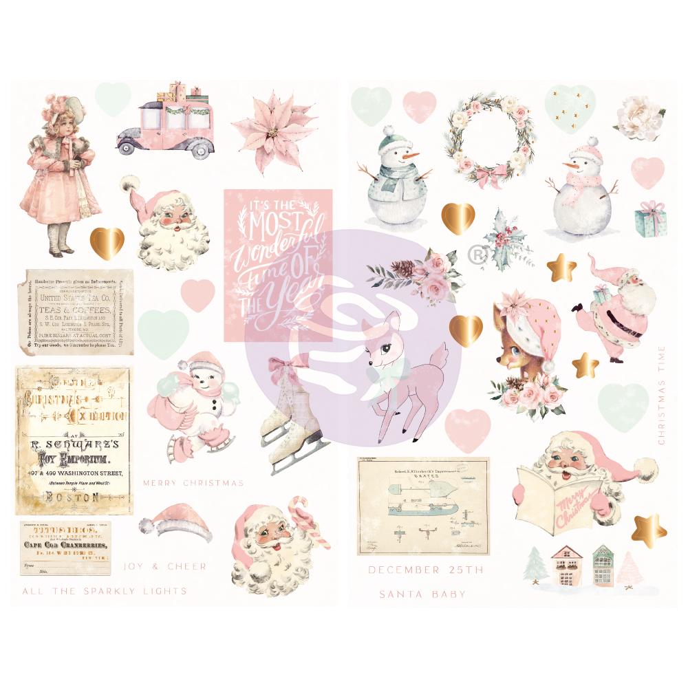 Sugar Cookie Christmas Collection Chipboards - 46 pcs, foil details