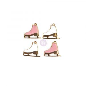 Sugar Cookie Christmas Collection Metal Charms - Skates - 4 pcs