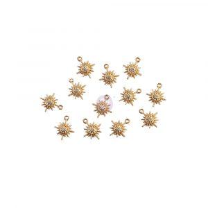 Sugar Cookie Christmas Collection Metal Charms - Snowflakes - 12 pcs