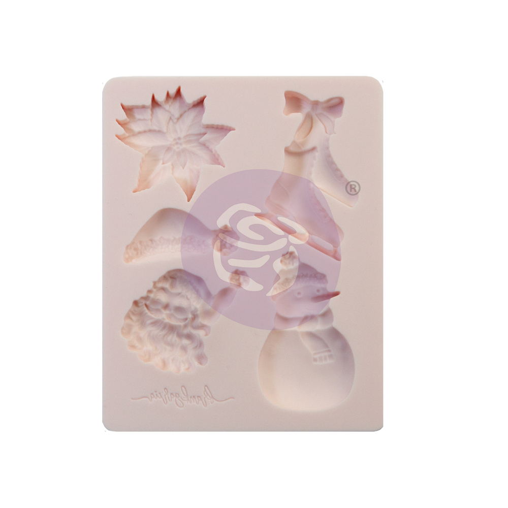"""Sugar Cookie Christmas Collection Silicone Mould - 3.5"""" x 4.5"""" x 8mm"""