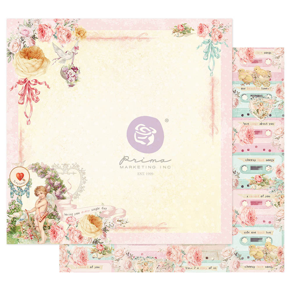 Magic Love Collection 12x12 Sheet - Loving You Everyday - 1 sheet w/ foil details