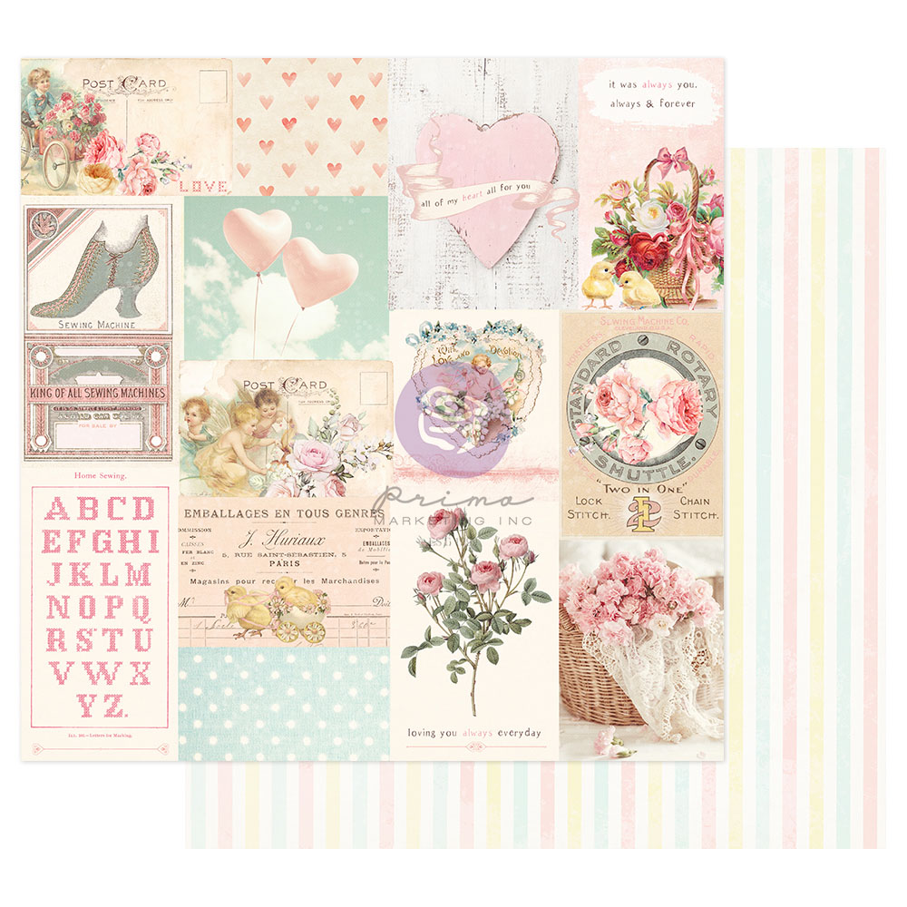 Magic Love Collection 12x12 Sheet - All My Heart All For You - 1 sheet w/ foil details
