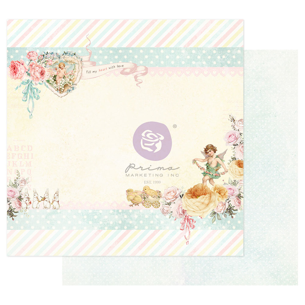 Magic Love Collection 12x12 Sheet - Fill My Heart With Love - 1 sheet w/ foil details