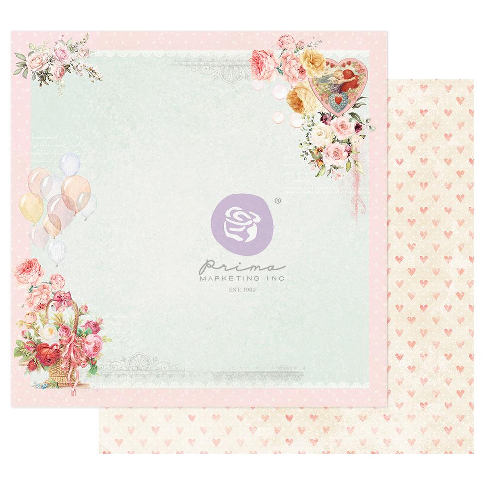 Magic Love Collection 12x12 Sheet - On A Pink Cloud - 1 sheet w/ foil details