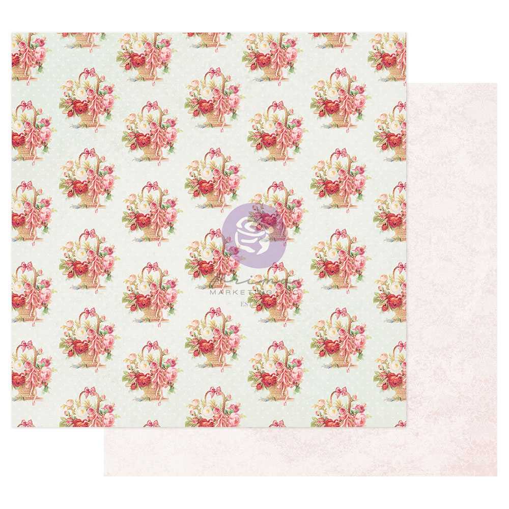 Magic Love Collection 12x12 Sheet - Carrying All My Love - 1 sheet w/ foil details