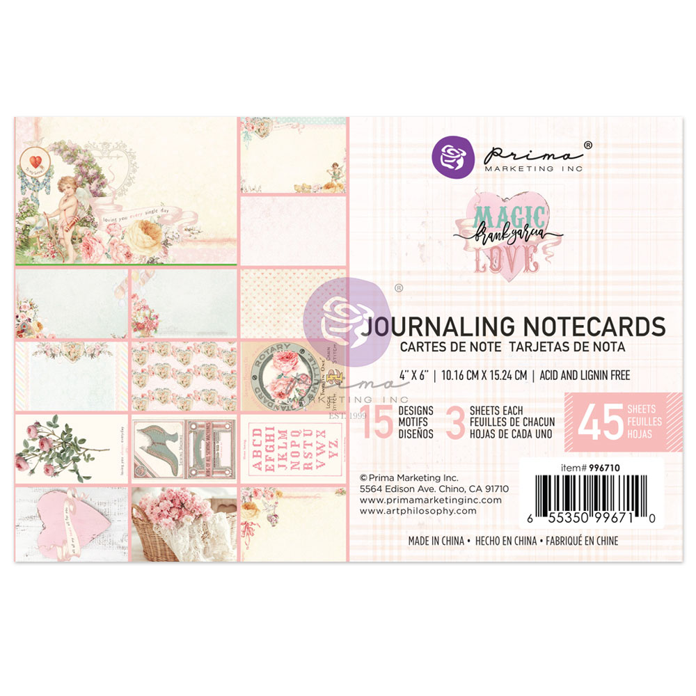 Magic Love Collection 4x6 Journaling Cards - 45 sheets