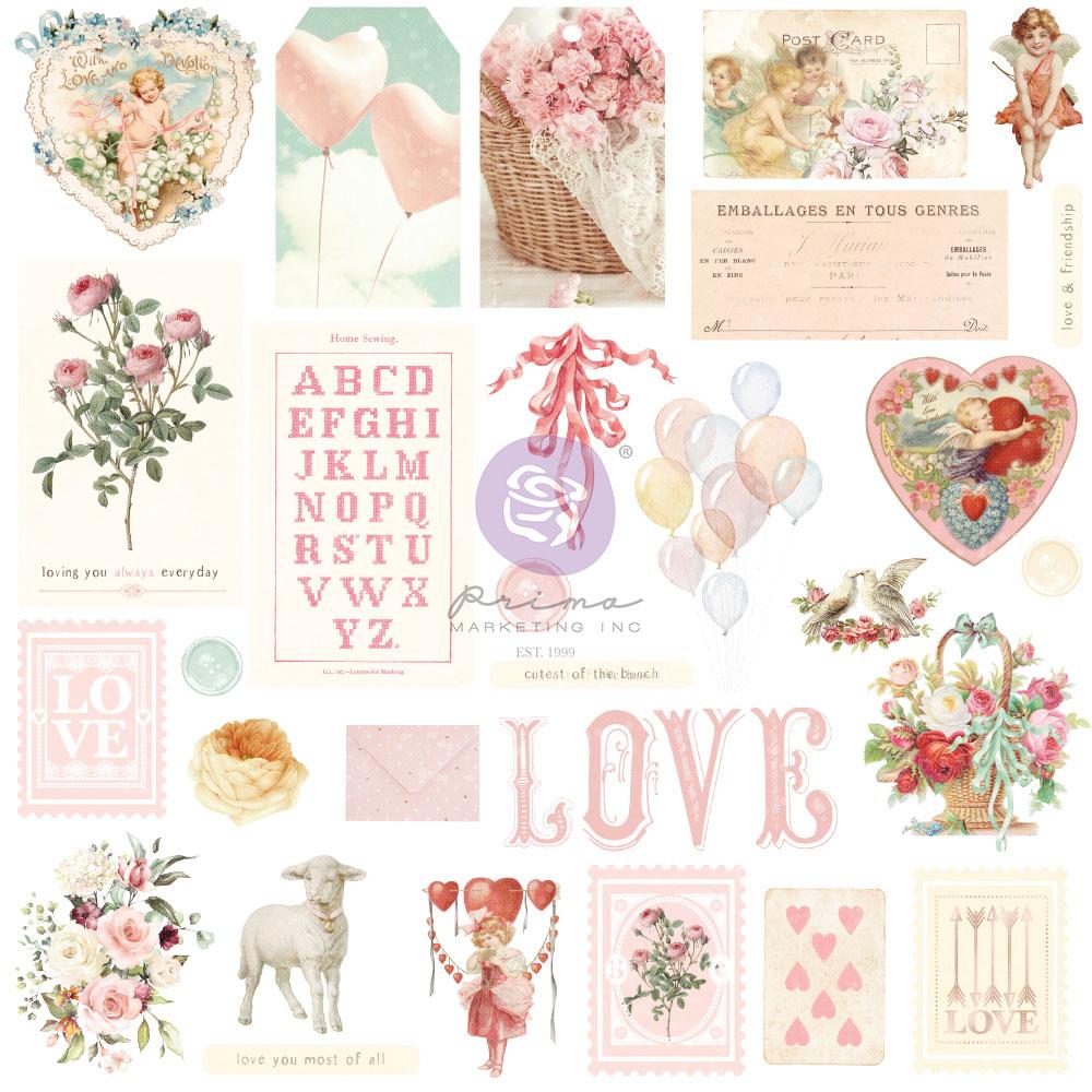 Magic Love Collection Ephemera - 29 pcs w/ foil details