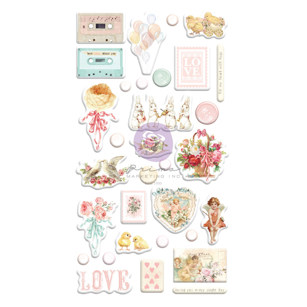 Magic Love Collection Puffy Stickers - 32 pcs