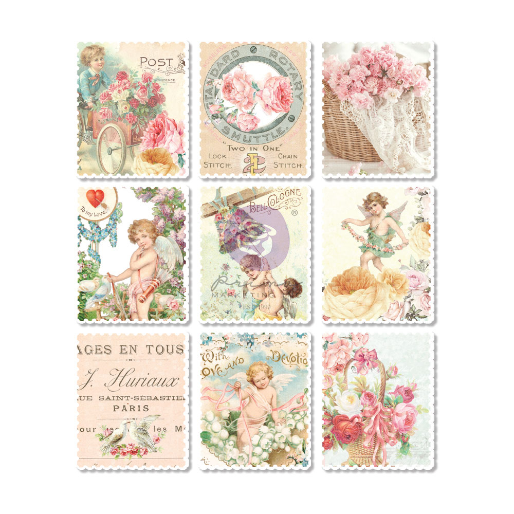 Magic Love Collection Wood Stickers - 9 pcs