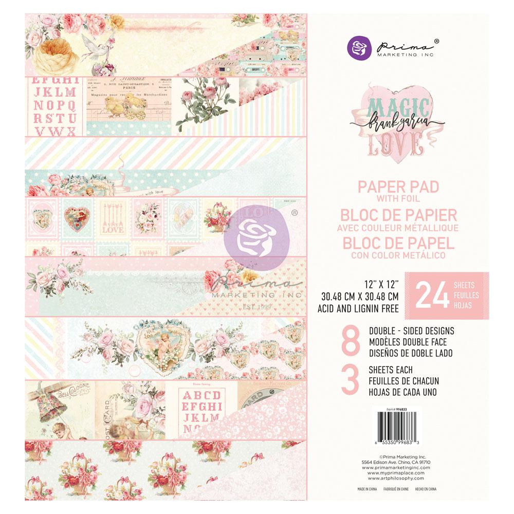 Magic Love Collection 12x12 Paper Pad - 24 sheets w/ foil details