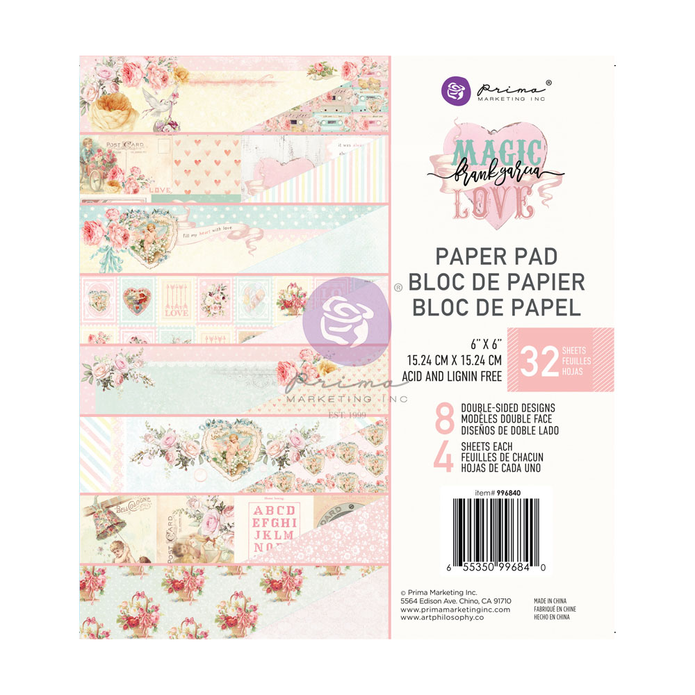 Magic Love Collection 6x6 Paper Pad - 32 sheets