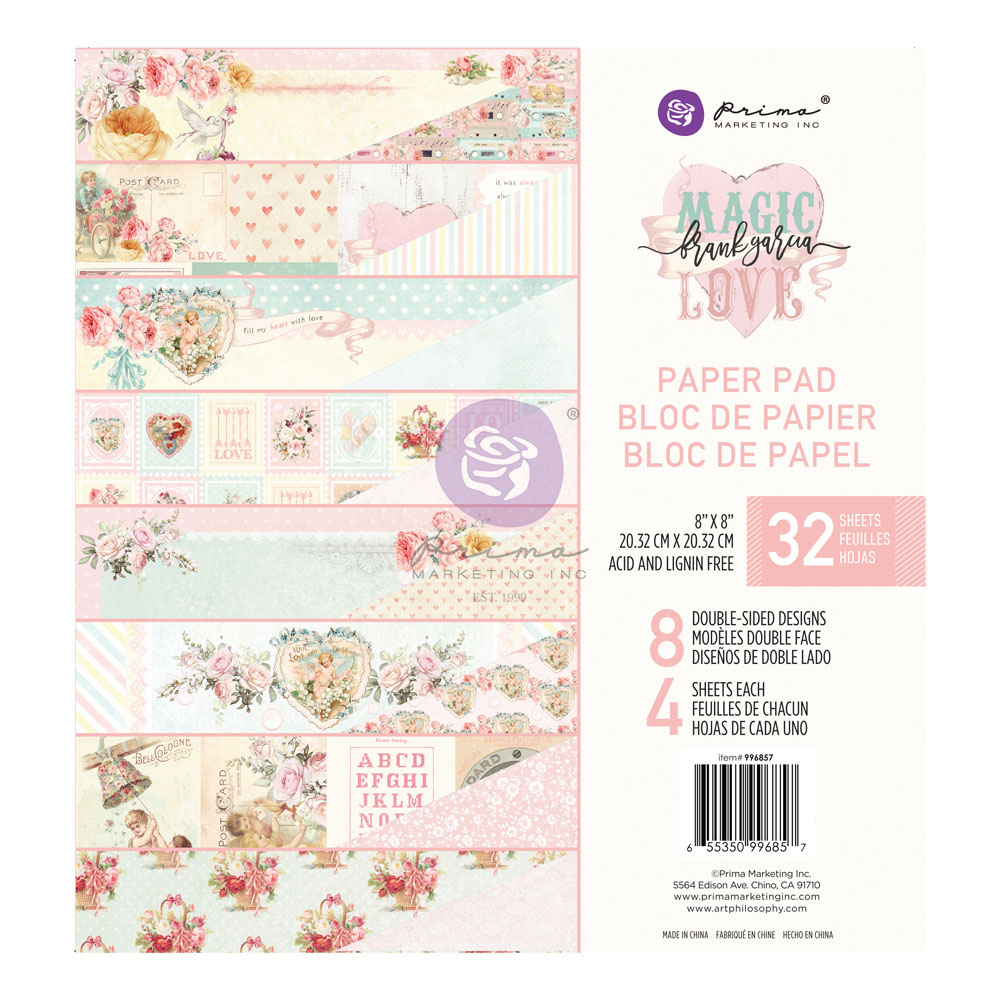 Magic Love Collection 8x8 Paper Pad - 32 sheets