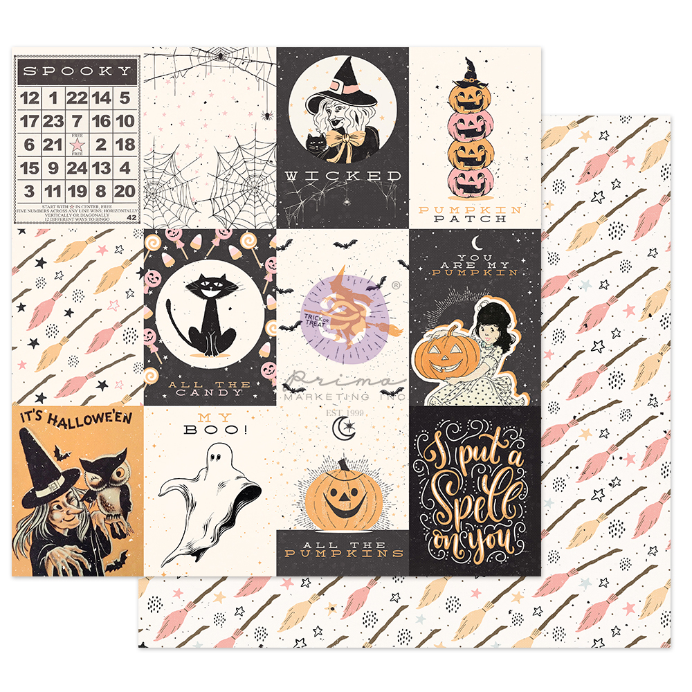 """Thirty-One Collection 12x12 Sheet - Wicked Sp31ls - 1 sheet, 12""""x12"""" with foil detail"""