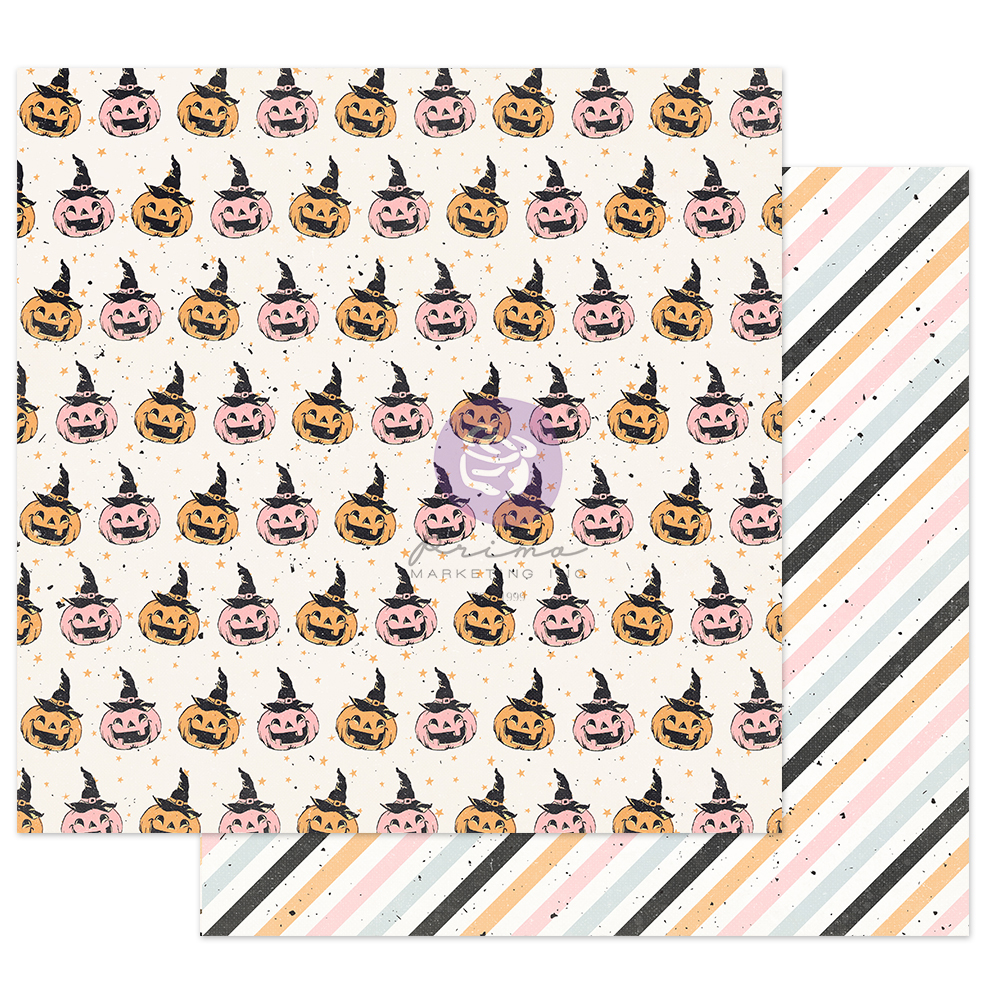 """Thirty-One Collection 12x12 Sheet - Jack-O-Lanterns - 1 sheet, 12""""x12"""" with foil detail"""