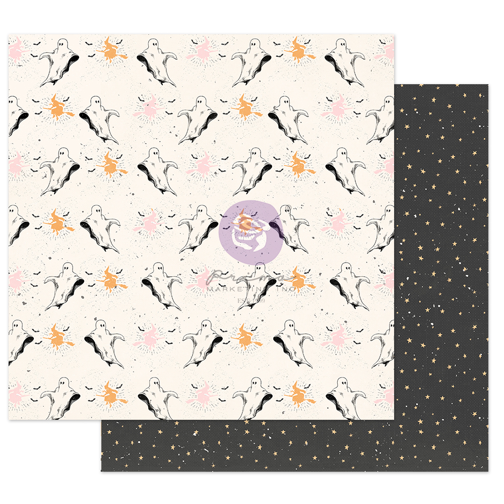 """Thirty-One Collection 12x12 Sheet - Boo to You - 1 sheet, 12""""x12"""" with foil detail"""