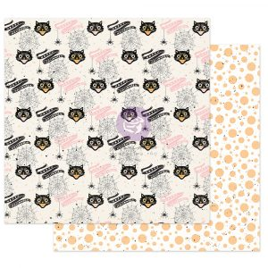 """Thirty-One Collection 12x12 Sheet - Cute & Scary - 1 sheet, 12""""x12"""" with foil detail"""