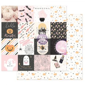 """Thirty-One Collection 12x12 Sheet - Magical Haunt - 1 sheet, 12""""x12"""" with foil detail"""