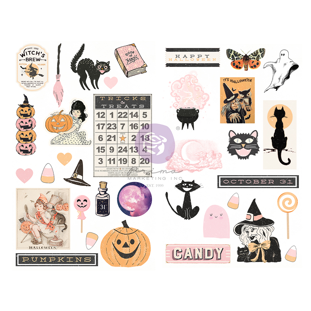 Thirty-One Collection Chipboard - 35 pcs w/ foil detail