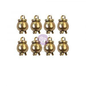 Thirty-One Collection Metal Embellishments - Cauldron Charms - 8 pcs