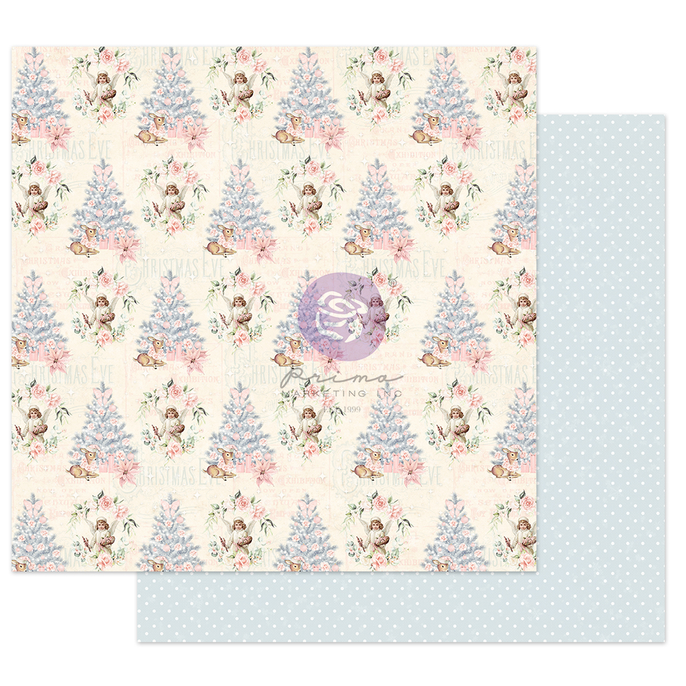 """Christmas Sparkle Collection 12x12 Sheet - Christmas Greetings - 1 sheet, 12""""x12"""" w/ foil detail"""