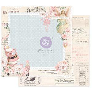 "Christmas Sparkle Collection 12x12 Sheet - Winter Sparkle - 1 sheet, 12""x12"" w/ foil detail"