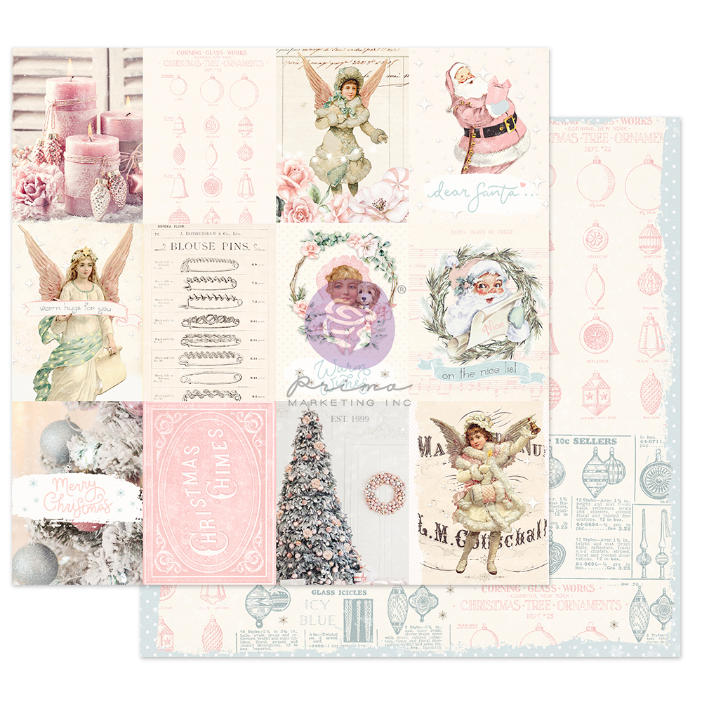 """Christmas Sparkle Collection 12x12 Sheet - Magical Holiday - 1 sheet, 12""""x12"""" w/ foil detail"""
