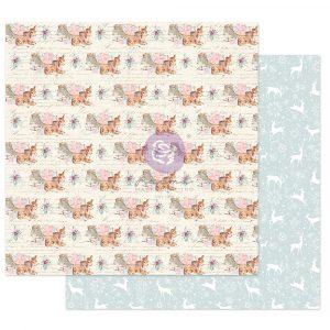"Christmas Sparkle Collection 12x12 Sheet - December Carols - 1 sheet, 12""x12"" w/ foil detail"