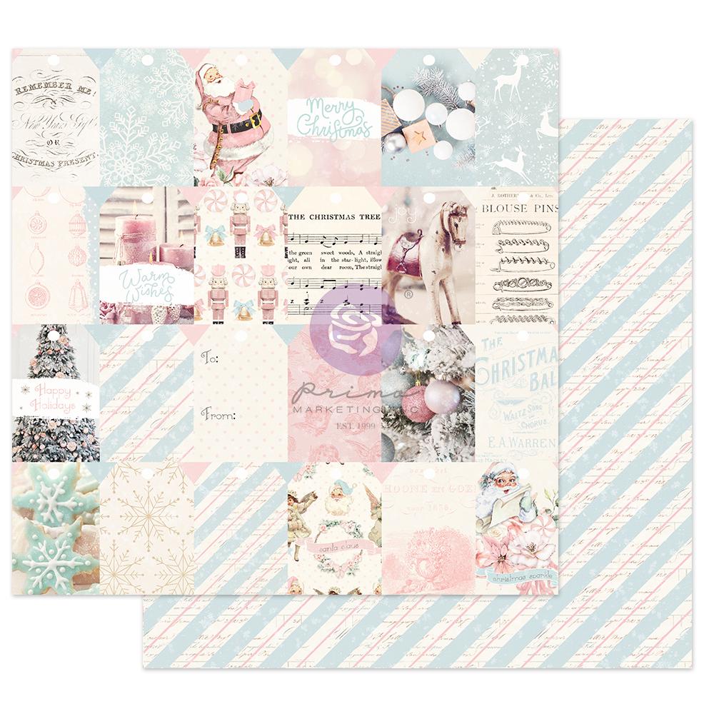 "Christmas Sparkle Collection 12x12 Sheet - Christmas Sweet - 1 sheet, 12""x12"" w/ foil detail"