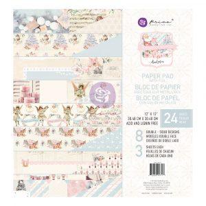 Christmas Sparkle Collection 12x12 Paper Pad - 24 sheets w/ foil detail
